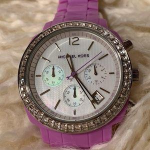 Michael Kors Purple Resin Chronograph Watch